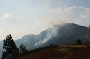 Incendio en Sitio Arqueológico Marcahuamachuco