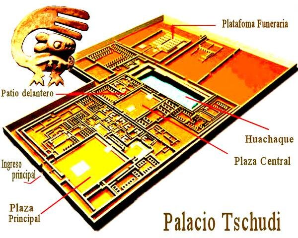 Los últimos momentos constructivos en el Palacio Tschudi, Chan Chan, Trujillo