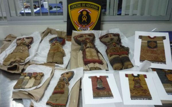Aduanas del Perú decomisó muñecas y telares pre-incas que tenián como destino Europa y Oceanía