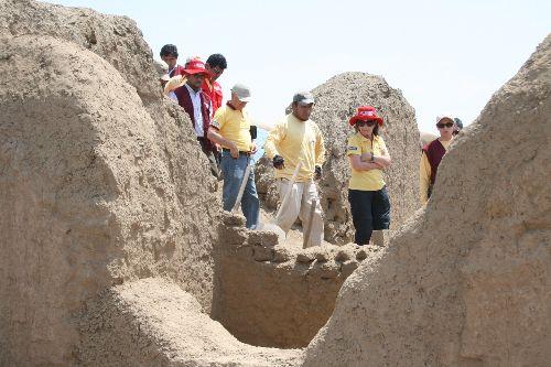 Equipo técnico del sector Cultura supervisó labores de conservación en Chan Chan