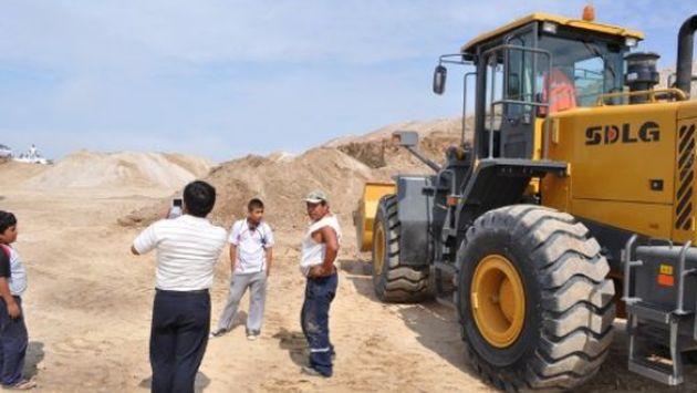 Inmobiliaria destruyó parte de una huaca en área arqueológica de la cultura Sicán, Lambayeque, Perú