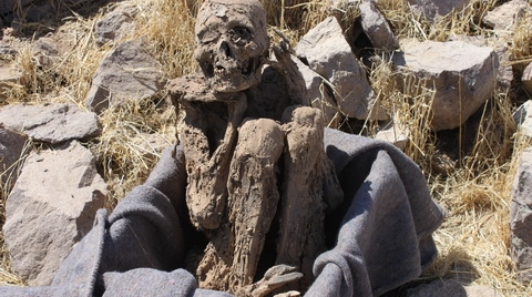 Hallan momia inca en ciudadela Moqi, Tacna