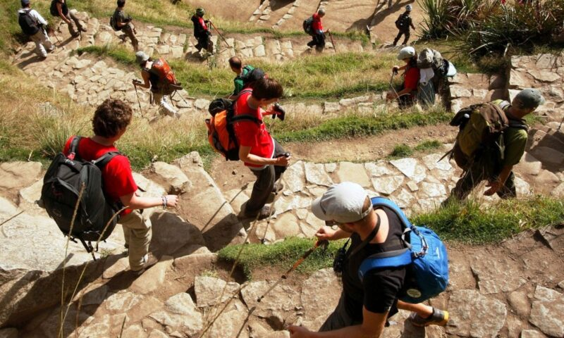 Some 500 people a day get to Machu Picchu through Inca Trail
