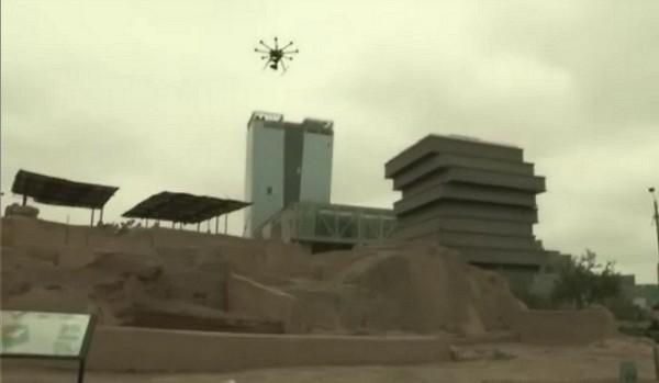 Con drones se protege el patrimonio arqueológico del Perú