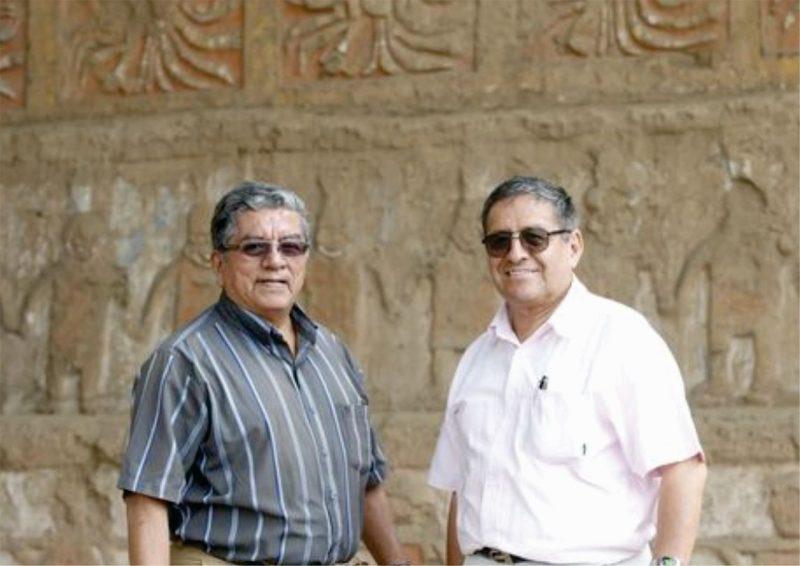 Ricardo Morales y Santiago Uceda, la dupla que dió inicio a uno de los proyectos arqueológicos más grandes del norte peruano. Foto: Dante Piaggio.